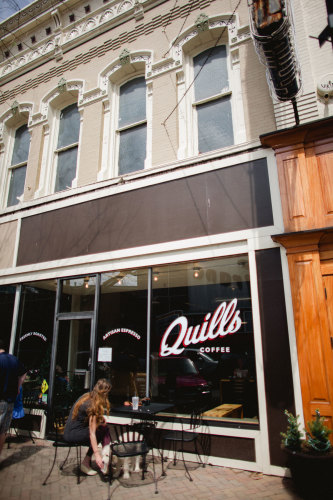 Quills Coffee. (Photos: Ben Willis.)