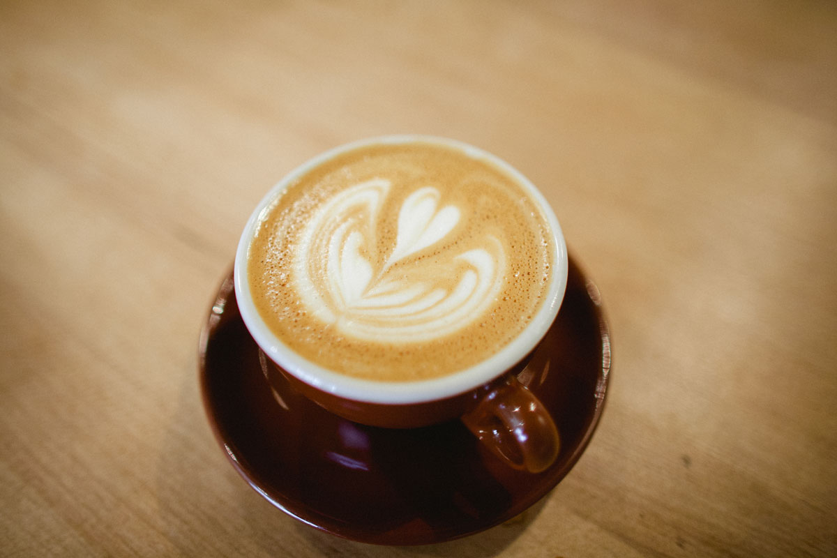 A latte at Quills.