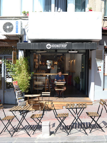 Kronotrop Café in the Cihangir neighborhood in Istanbul.