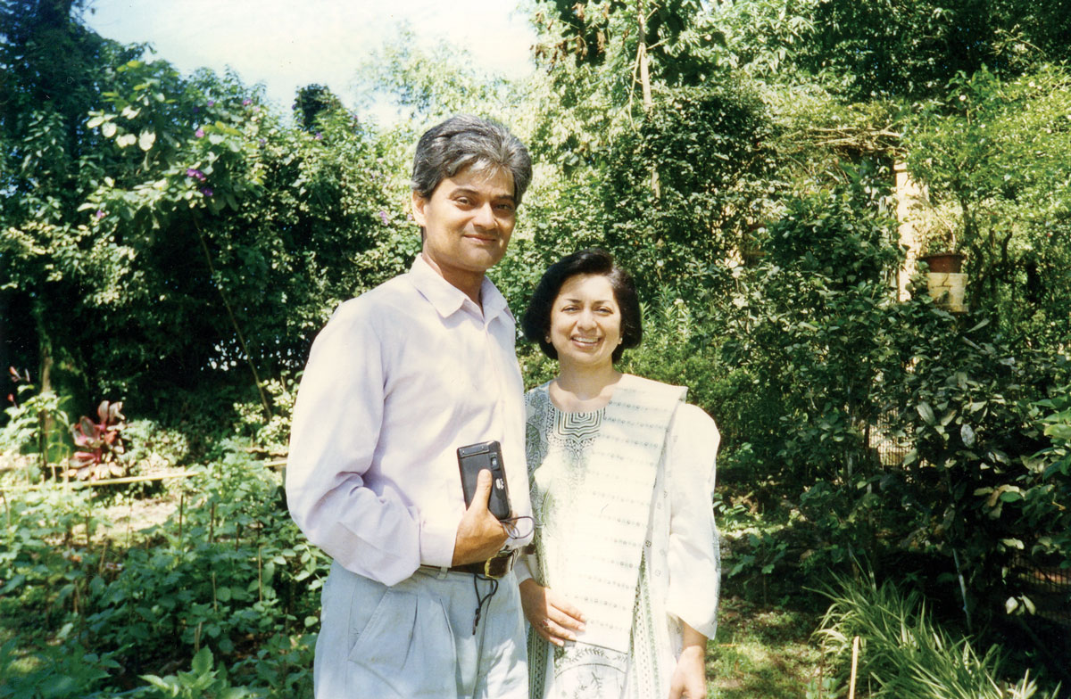 Anupa with her brother-in-law Rajah Banjeree, owner of Makaibari Estate.
