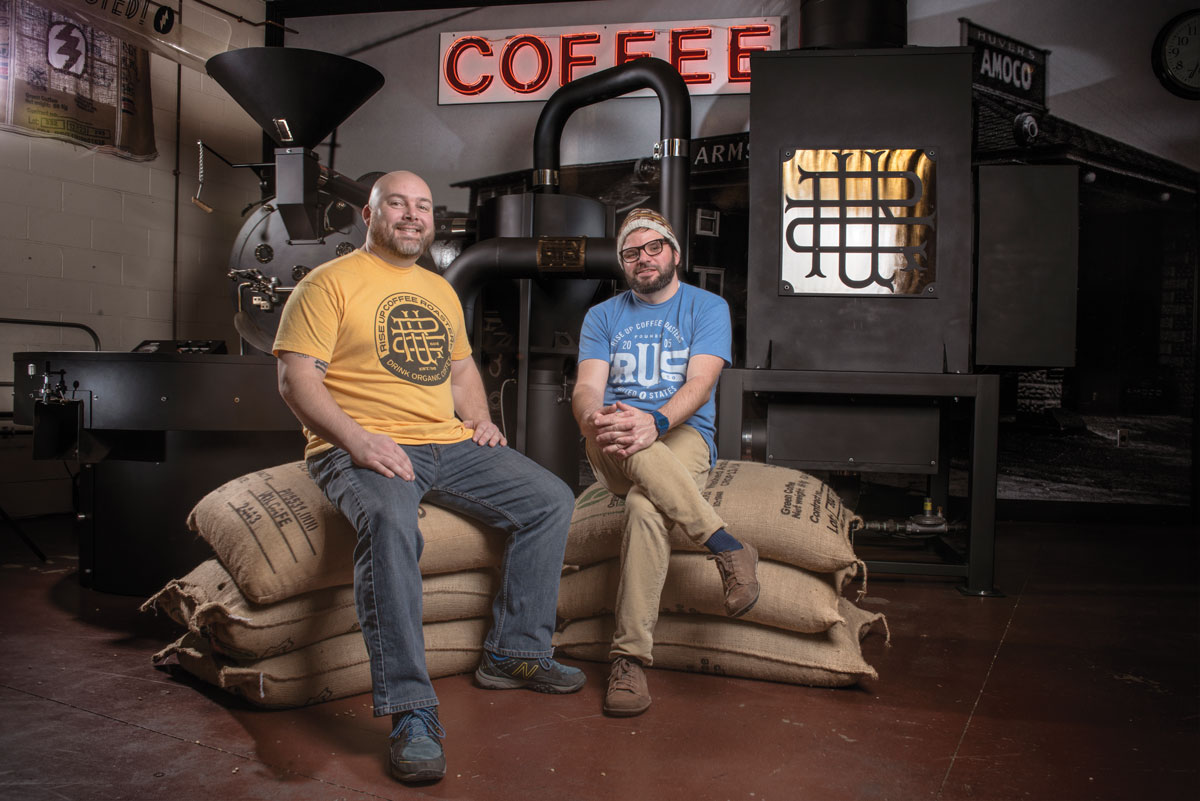 """Roasting manufacturers will often make roasting sound very simple and straightforward, while roasters might say the opposite,"" says Tim Cureton (on right), founder of Rise Up Coffee in Maryland. ""When I finally decided to leap into roasting, I went on a quest to figure out what to do."""