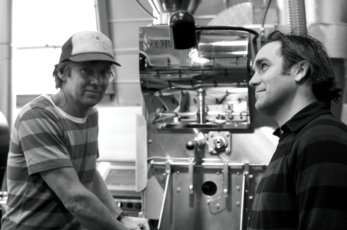 Black Coffee Roasting Company owners Jim Chapman and Matt McQuilkin.