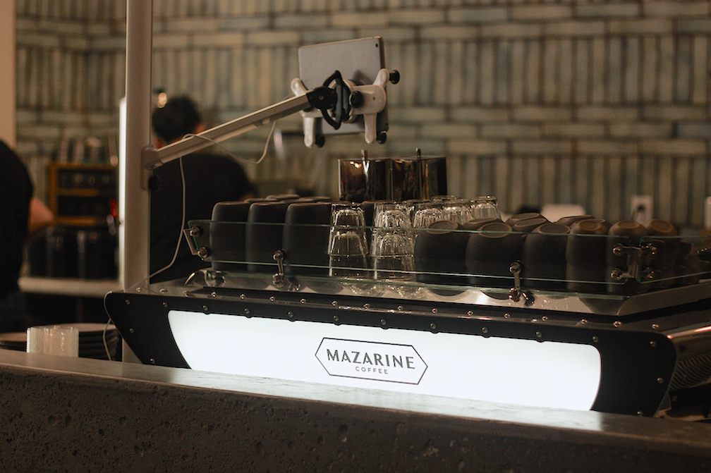 Mazarine's customized Kees Van Der Westen machine.