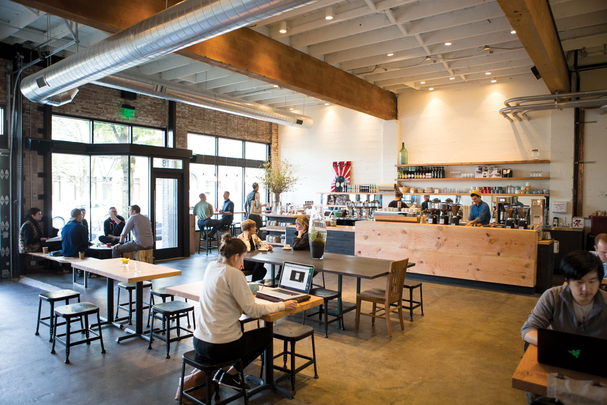 The interior of Cup & Bar. (Photos by Cory Eldridge.)