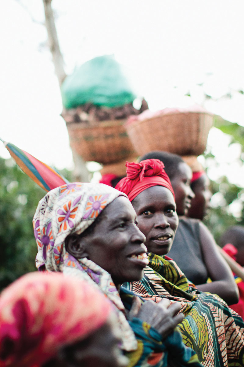 Coffee farmers in Burundi. (Photos: courtesy Kristy Carlson, Long Miles Coffee.)