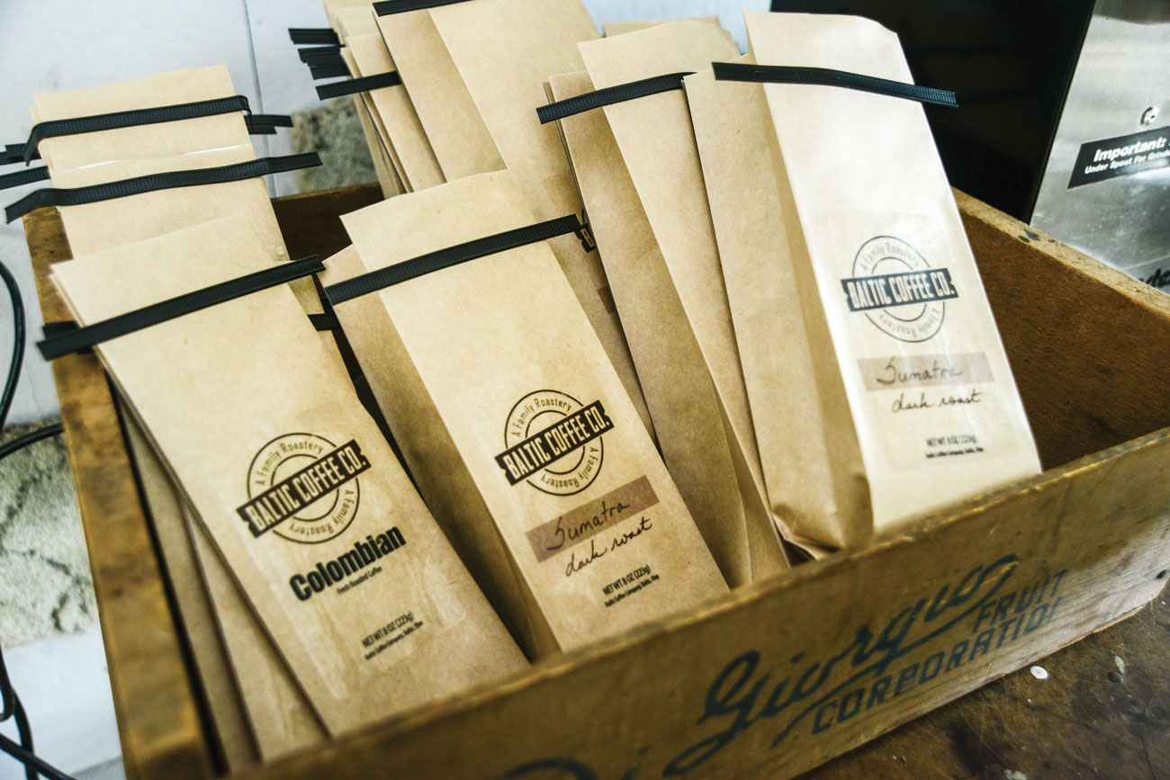 Baltic Coffee Company's packaging. (Photos by David Baio.)