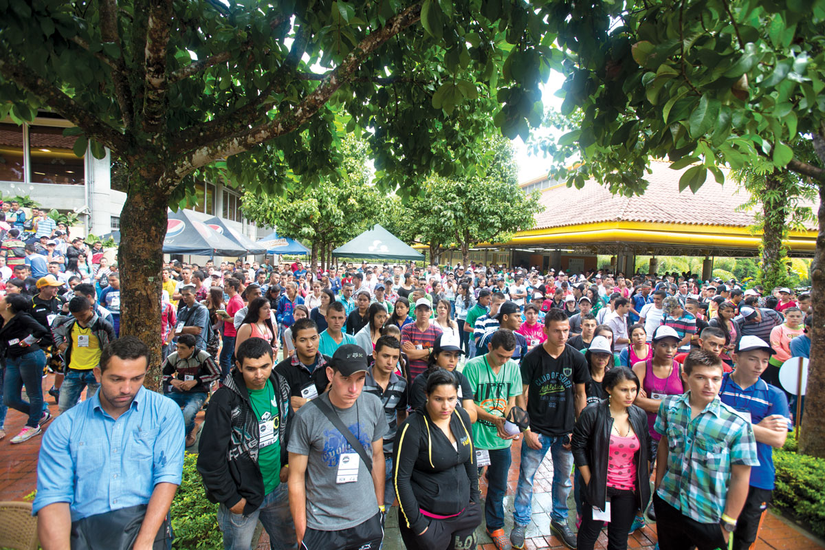More than 1,000 college-age farmers and children of farmers attended the New Coffee Growers Generation camp. (Photos by Cory Eldridge.)