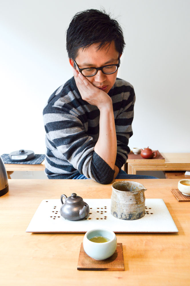 Peter Luong, owner of Song Tea & Ceramics. (Photos: Jessica Copi.)