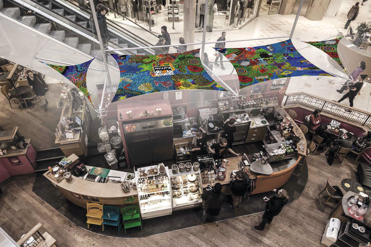Kaffitá's espresso bar in Kringlan, Iceland's largest shopping mall. (Photo: courtesy Kaffitár.)