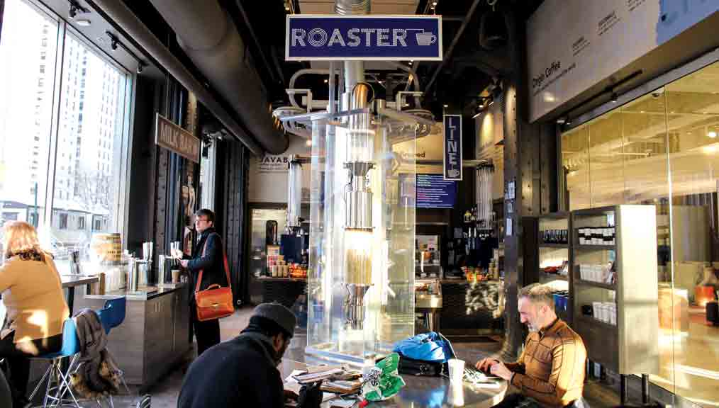 Roasting Plant's roastery and café in downtown Detroit. (Photo: courtesy Roasting Plant.)