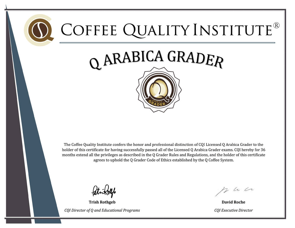 Q grader certification for baristas fresh cup magazine the q certification process is notoriously difficultover 75 percent of candidates fail their first attempt but according to wieser the challenge 1betcityfo Images