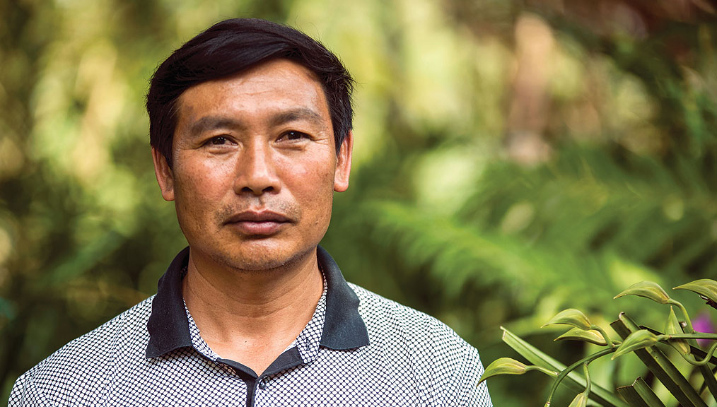 Chinese coffee farmer Hu XiXiang