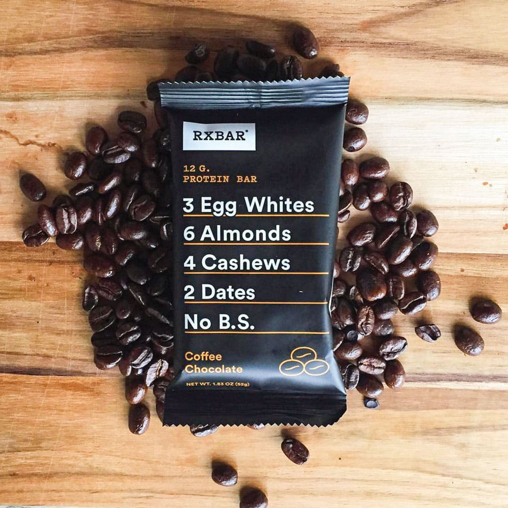RXBar Coffee Chocolate Paleo Snack.