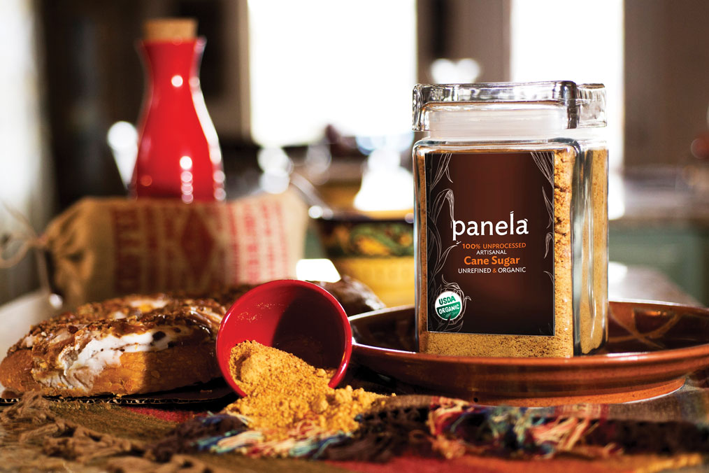 Just Panela sugar, unrefined cane sugar, minimally processed; cream and sugar