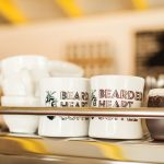 Bearded Heart Coffee Mugs on Machine, photo by Artemis Photography