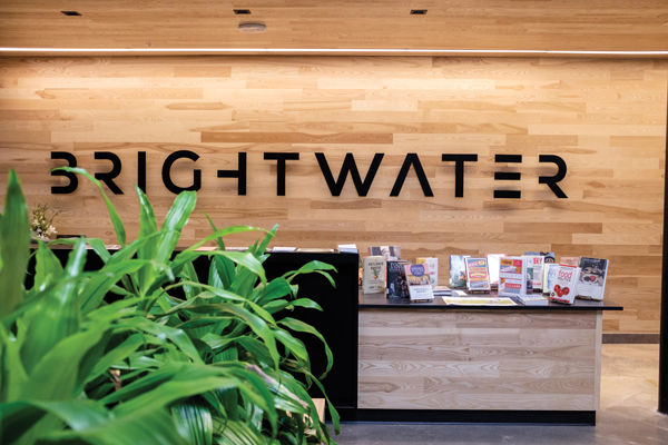 Brightwater Sign, photo by Dakota Graff