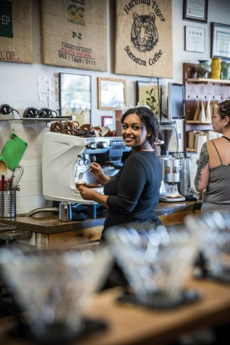 Melka Myers, Deaf since birth, felt the calling to become a barista and hasn't looked back.