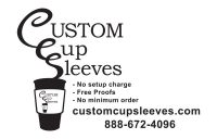 Custom Cup Sleeves